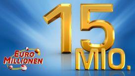 #EuroMillionen - Heute geht es um € 15 Mio. im ersten Gewinnrang.