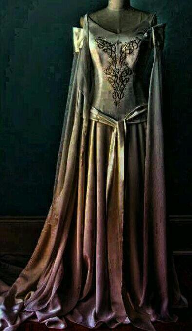 Gold & Purple Renaissance   Gown..