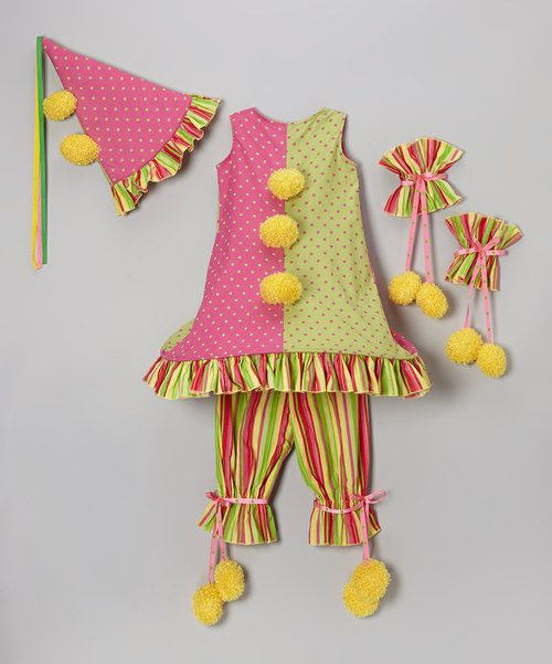 Take a look at the Princess Paradise Lime Carnival Clown Dress-Up Set - Girls on #zulily today!