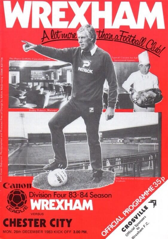 Wrexham vs chester fc boxing day match programme