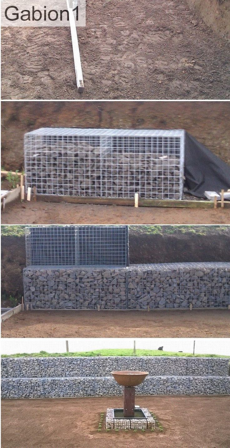 9 Best How To Build A Curved Gabion Wall Images On