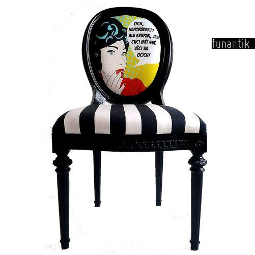 """Obhajoba Pohodlná a prostorná židle ve stylu Ludvíka XVI. Židle není přímo zLudvíkovy doby :-), ale i tak už leccos pamatuje - podle předchozího majitele byla pořízena těsně po válce, tedy vpadesátých letech minulého století. Židle je dřevěná, ,,řezbované"""" části a ozdoby byly odlity zumělé pryskyřice. Dřevěná konstrukce je naprosto vpořádku a plně ..."""