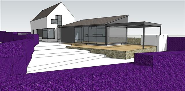 Proposed new dwelling design at an infill site near Rochestown, Cork by Hugodesign