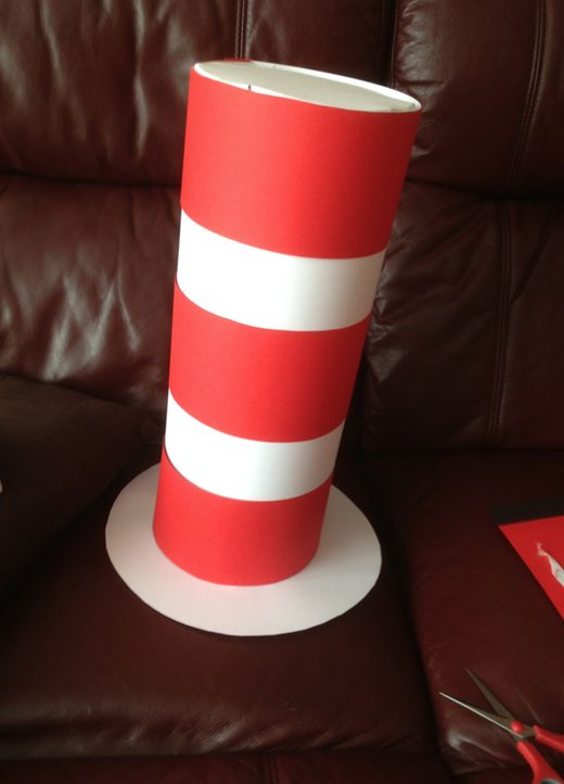 The Cat in the Hat costume idea - easy costume for kids to celebrate Dr Seuss or World Book Day