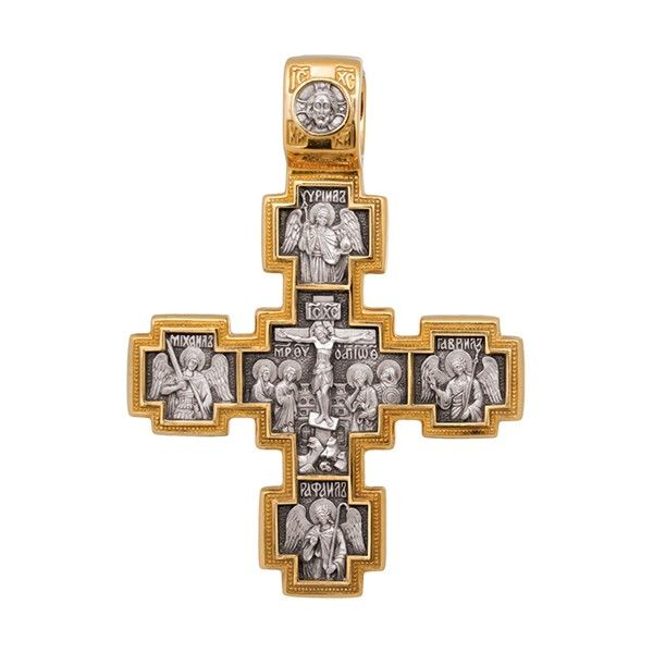 Крест «Распятие. Святой Никита, побивающий беса»