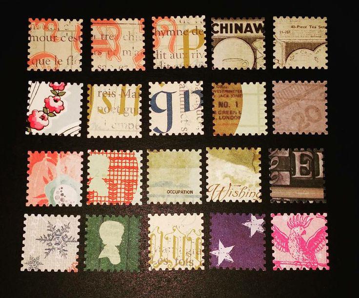 Lot de 10 Timbres autocollants fait maison : Stickers, autocollants par steph1861
