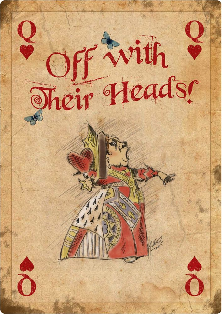 ALICE IN WONDERLAND GIANT Vintage Playing Card Tea Party Prop Mad Hatter QH in Home, Furniture & DIY, Celebrations & Occasions, Party Supplies | eBay
