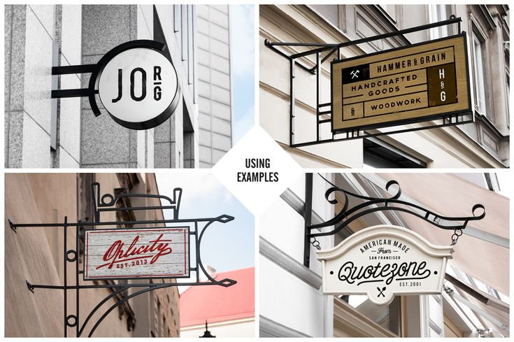 10 Signs Mockup Restaurant & Coffee by forgraphic™ on Creative Market