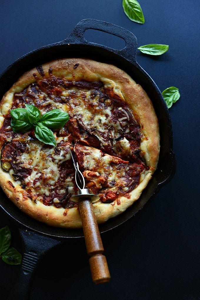 45 Minute Veggie Deep Dish Pizza