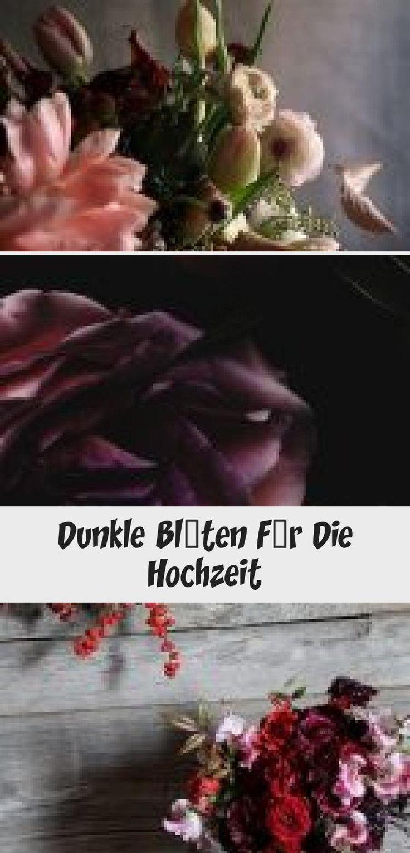 Dunkle Blumen für die Hochzeit   – House Decor
