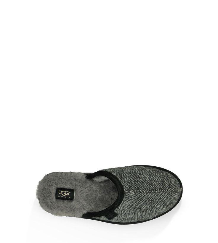 ugg slippers scuff herringbone