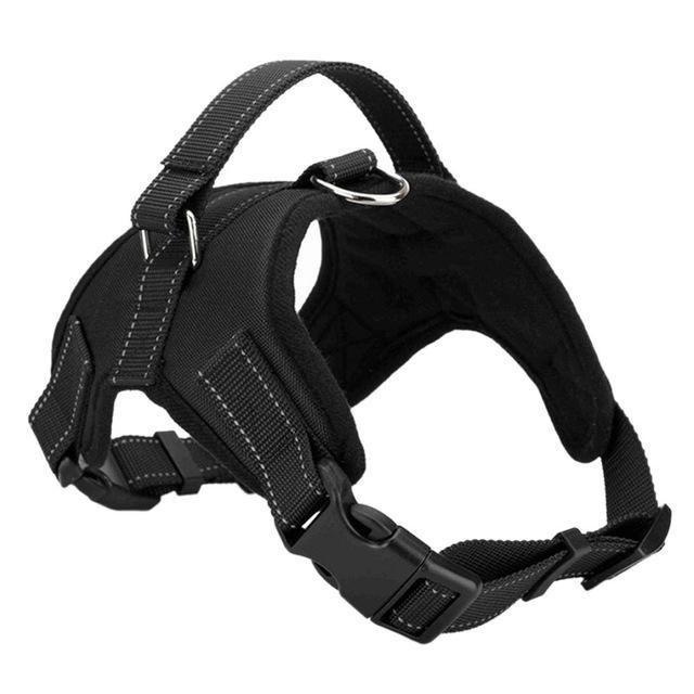 Adjustable Dog Vest Harness Black Xl Dog Harness Large Dogs