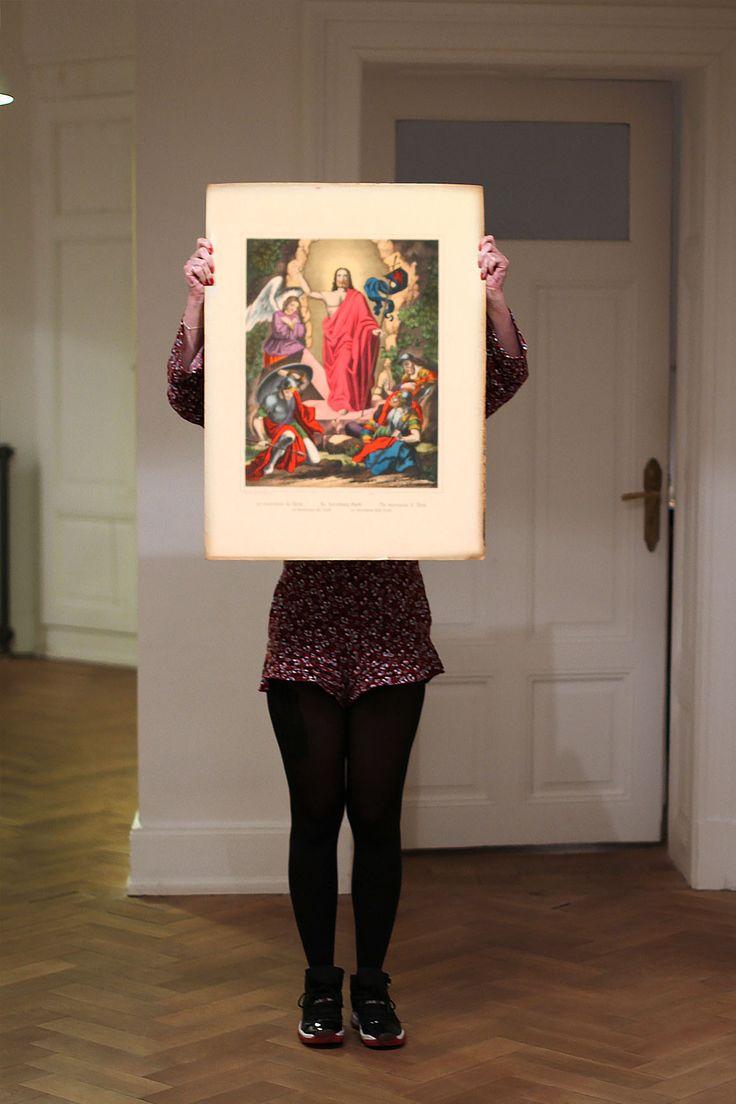 La résurrection du Christ - Lithographie Wentzel - Imagerie de Wissembourg - Fin 19ème siècle