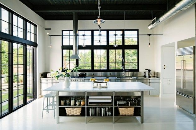 15 Extraordinary Modern Industrial Kitchen Interior Designs Industrial Decor Kitchen Industrial Interior Kitchen Industrial Style Kitchen