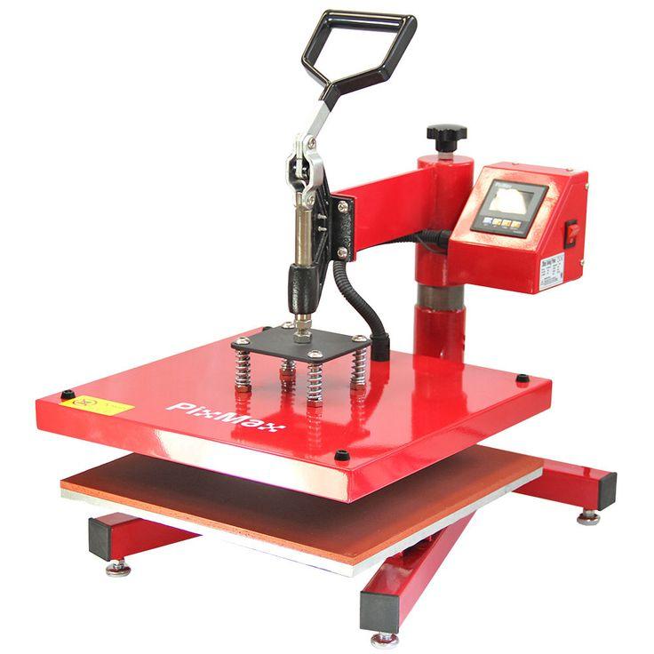 Schwung Hitzepresse 38 X 38CM Aufdruck Vinyl Transfer Presse Maschine Handpresse