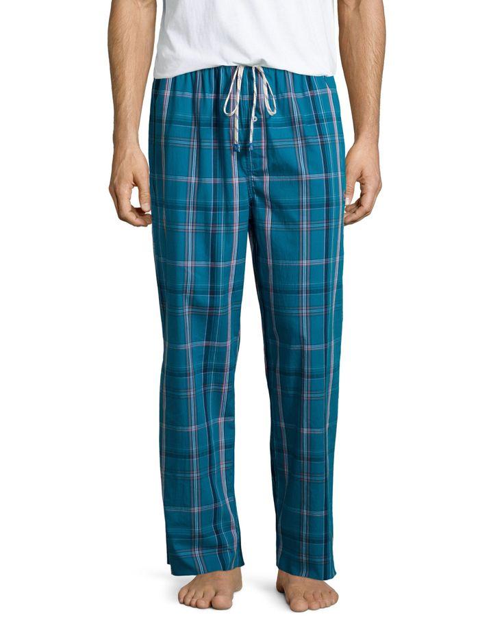 Original Penguin Plaid Flannel Drawstring Lounge Pants, Seaport, Men's, Size: Medium, Seaport Pl