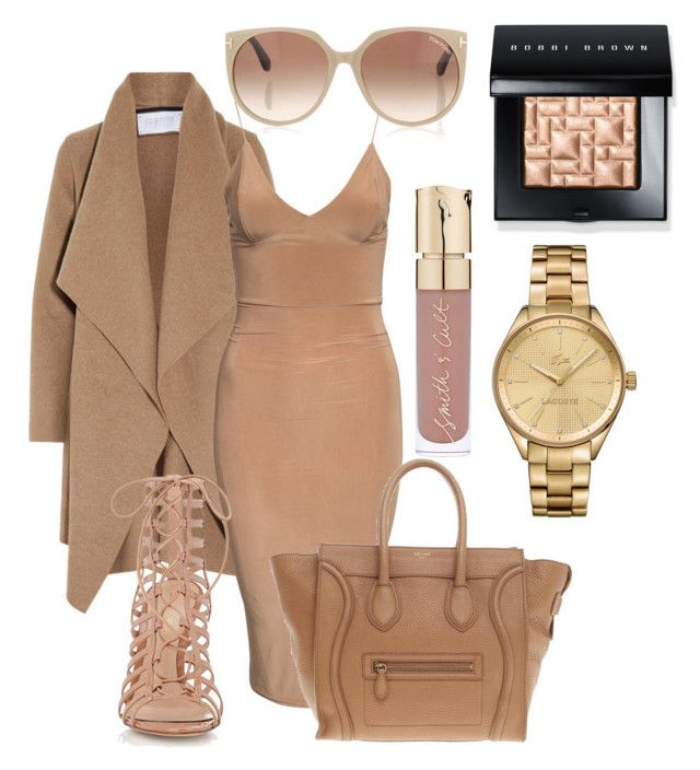 """Fashionista"" by colleen-scott-1 on Polyvore featuring Harris Wharf London, Gianvito Rossi, CÉLINE, Tom Ford, Smith & Cult, Bobbi Brown Cosmetics and Lacoste"