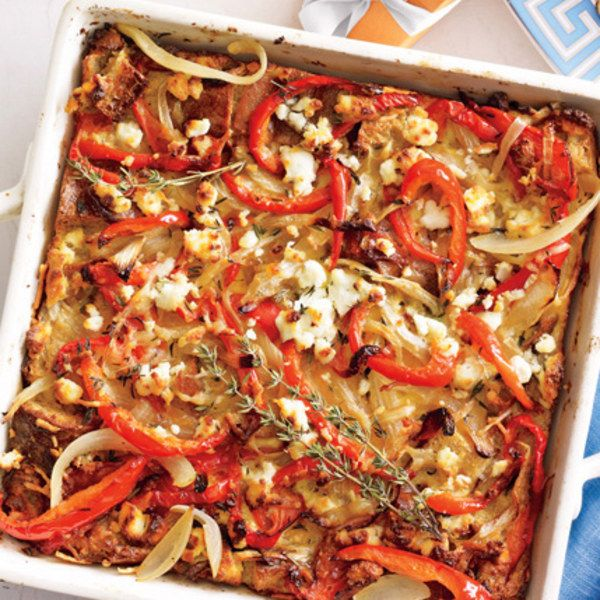 Isn't brunch! Stick this strata in the oven as guests arrive.