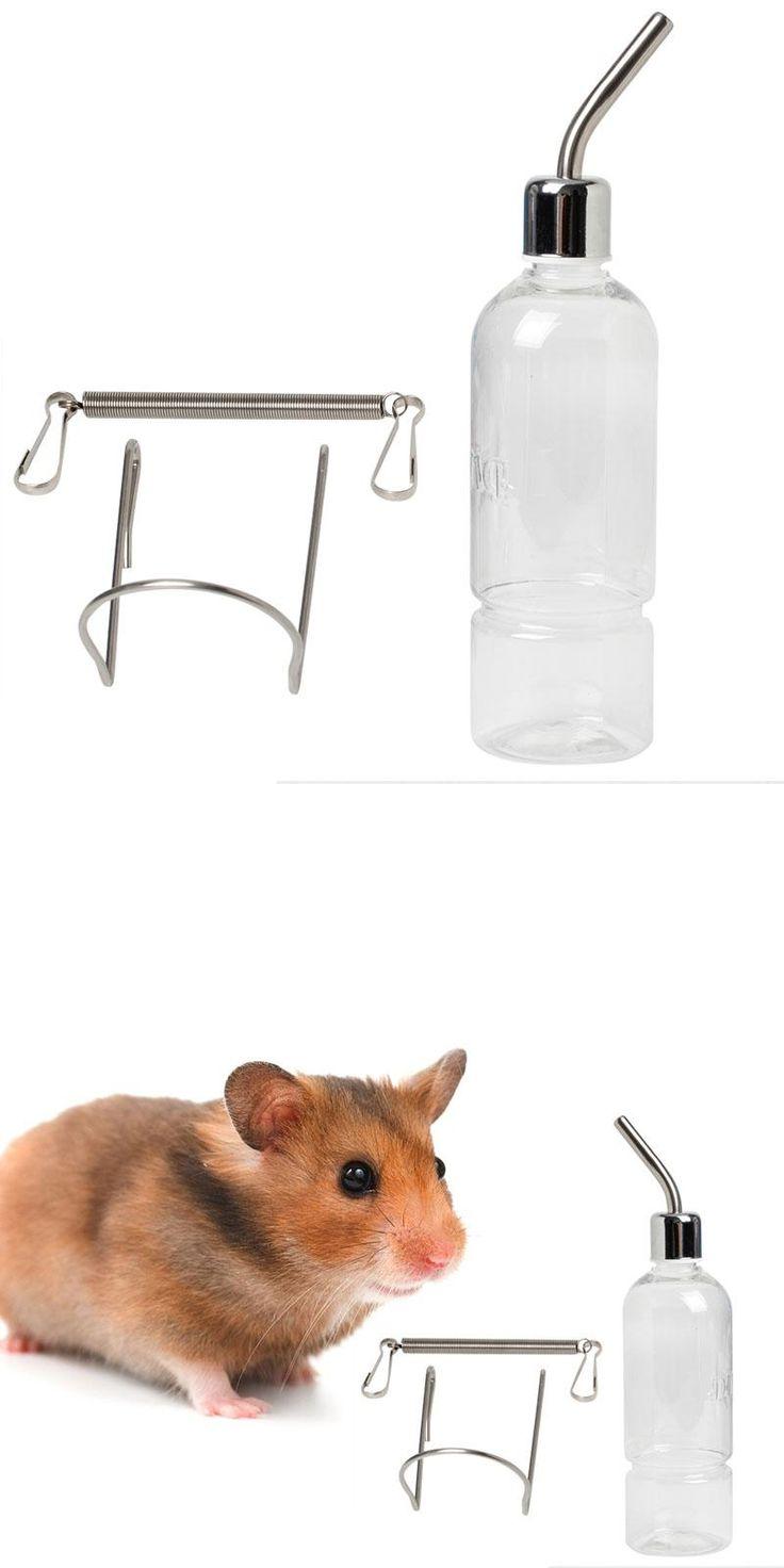 [Visit to Buy] 350ml Pet Rat Water Drinking Bottle Hamster Rabbit Dispenser Cylindrical Feeder #Advertisement