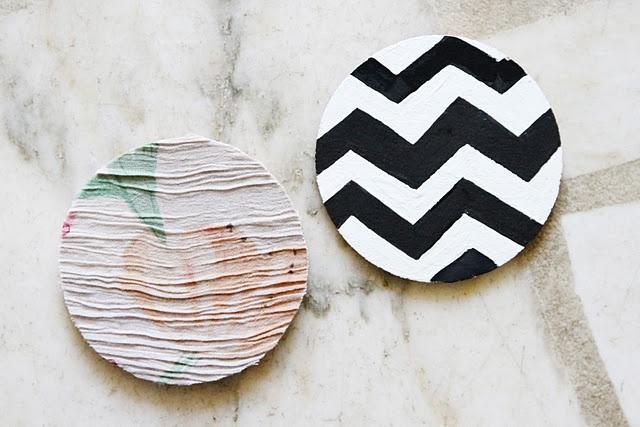Coaster DIY - use cork circle + paint it!
