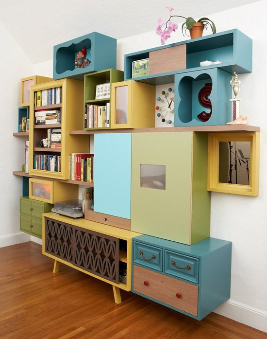 Yes, it's incredible but true: this is a DIY furniture. And it's incredibly nice, with its pop style.