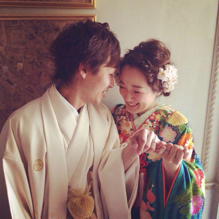 オーダーメイドフォトウエディング(Photo Wedding) 色打掛(Kimono):01-4161 / 紋付(Kimono):10-3109