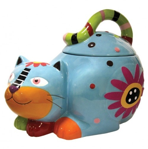 Cats Cats Cats Adorable Ceramic Kitty cookie or treat Jar