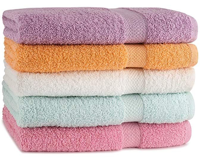 Towelfirst 5 Pack Extra Absorbent Bath Towel Set Large 27 X 54