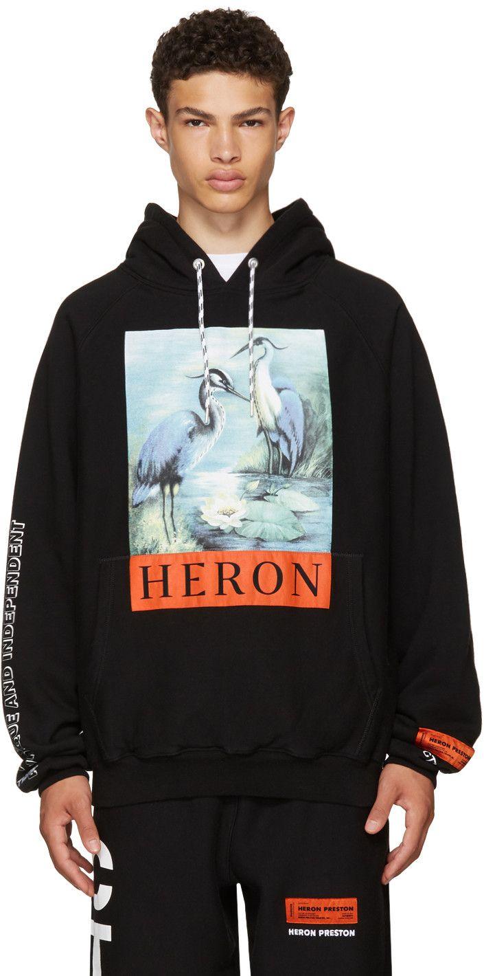 257de8c2cb612 HERON PRESTON Black Heron Hoodie.  heronpreston  cloth  hoodie ...