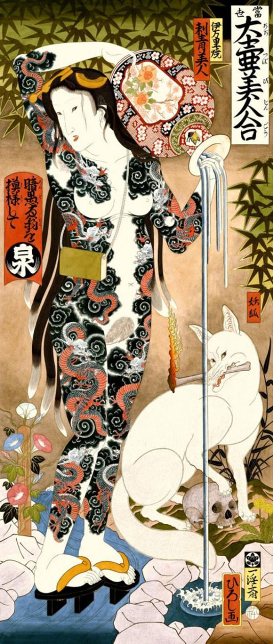 Hiroshi Tattoo Artist | Hiroshi Hirakawa's Paintings Are Pictures From The Floating World
