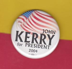 """RARE Presidential Campaign Button """"JOHN KERRY for PRESIDENT 2004 ..."""