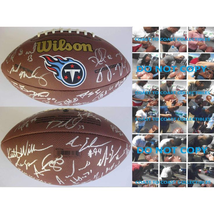 2016 Tennessee Titans, Team, Signed, Autographed, Logo Football, a COA with the Proof Photos of the Titans Players Signing the Football Will Be Included