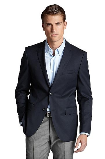 'The James ' | Regular Fit, Virgin Wool Sport Coat by BOSS