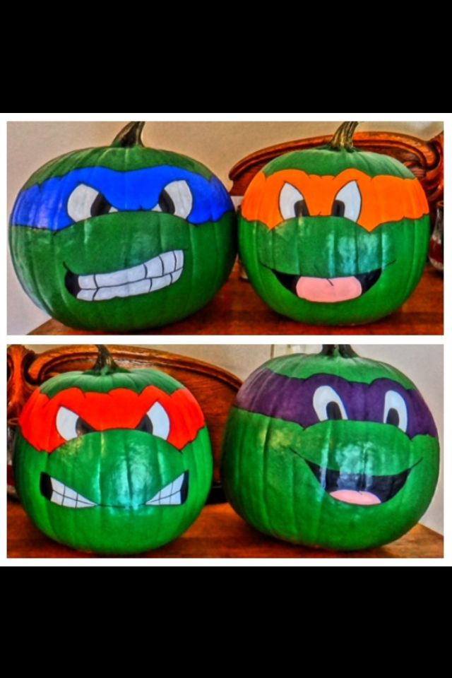 Ninja Turtle Pumpkin Painting Ideas