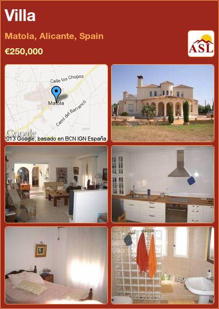 Villa in Matola, Alicante, Spain ►€250,000 #PropertyForSaleInSpain