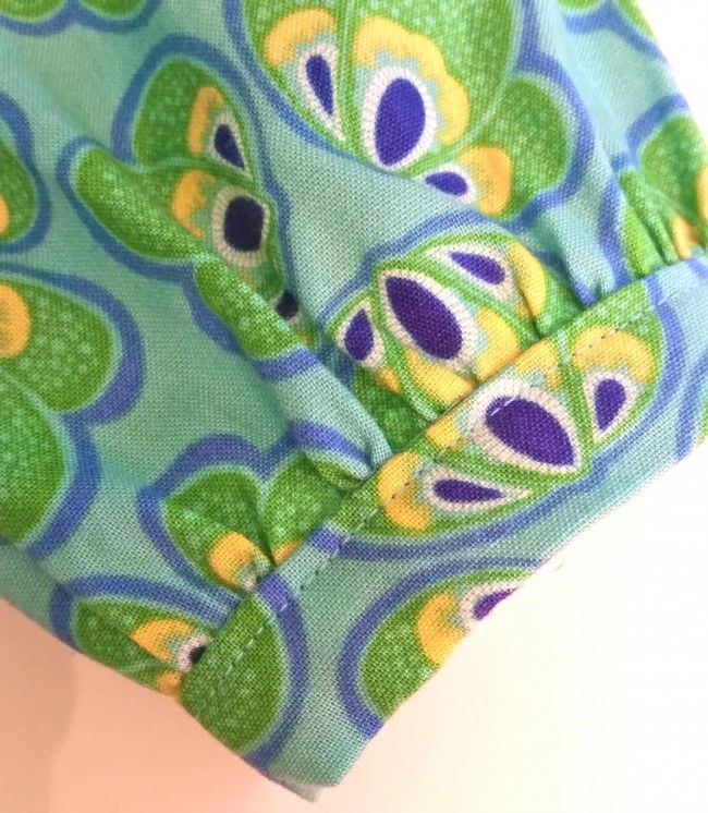 Whipstitch: Flip Flop Dress Sleeve in Spring Bloom: Fabric by Bella Caronia for Windham Fabrics