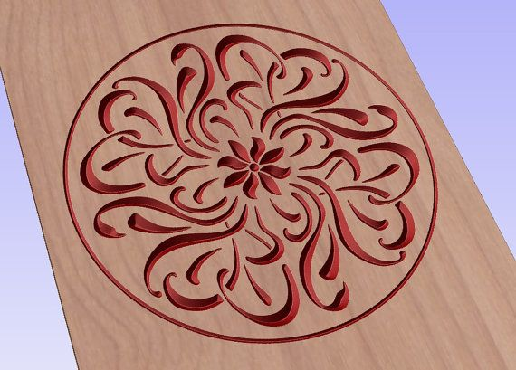 Art noveau round pattern vector file for cnc V-bit carving (digital file).  This file can be applied to any program CNC like Artcam and Vectric #digital2cre8  #3Dprinting #vcarve #cncrouter #cncfile #gcode #woodcarving #digitalsupplies #homedecor #pattern #artnoveau