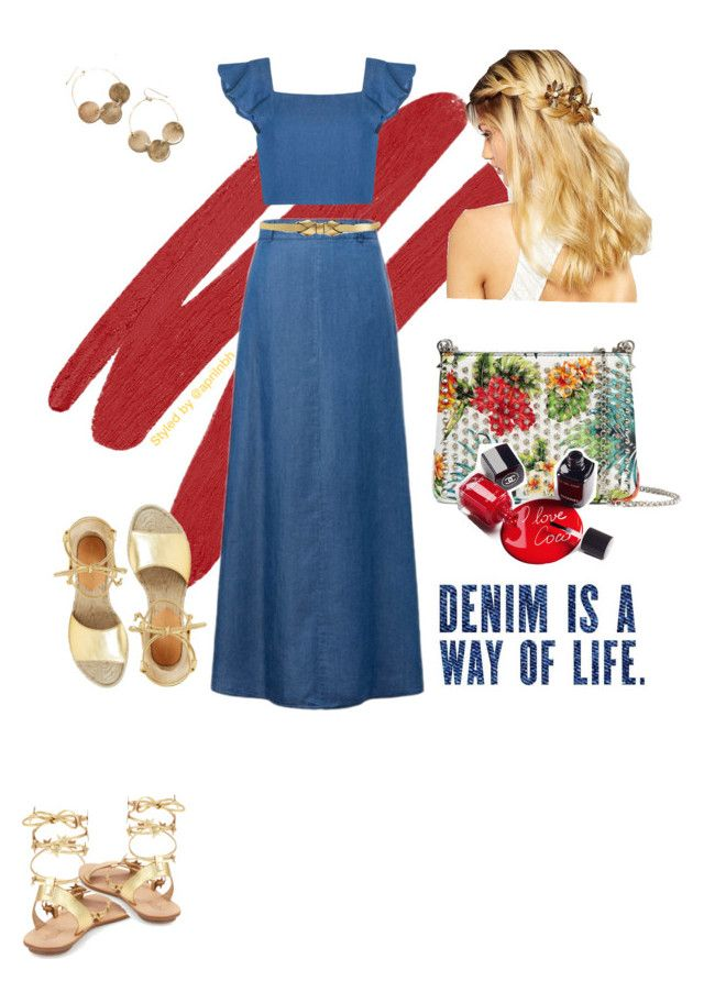"""""""Outfit #62"""" by aprilhayes123 on Polyvore featuring NARS Cosmetics, WithChic, Olivia the Wolf, Christian Louboutin, Chanel, Marni, Anthropologie, Loeffler Randall and Diane Von Furstenberg"""