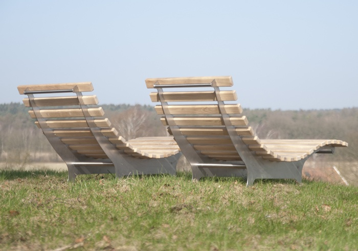 Stainless Steel deck chair at Floriade 2012 by abk-outdoor.com