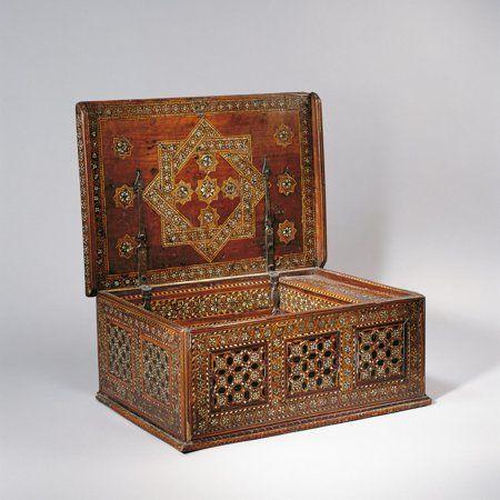 Museo Aga Khan: Cofre de madera. Andalucía, España. Siglo XV.