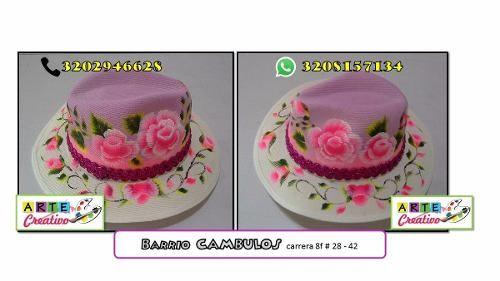 Sombreros Pintados A Mano $1 S8X9k - Precio D Colombia