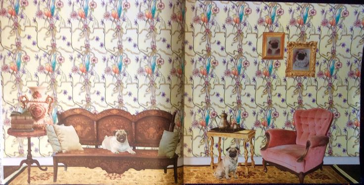 Wallpaper Book. The Year is1750. Coloured by Prue