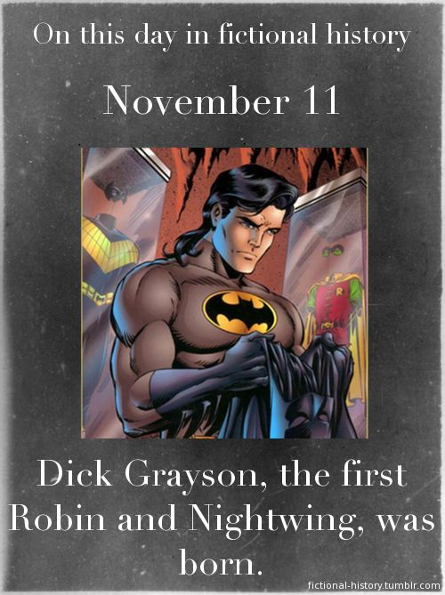 You know this is weird, right? In the comics, Dick's birthday was established as the first day of Spring. Last time I checked, November was not in Spring.
