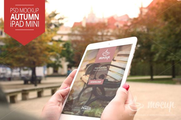 iPad Mini Mockup Autumn by Mocup, mockupdeals.com on Creative Market