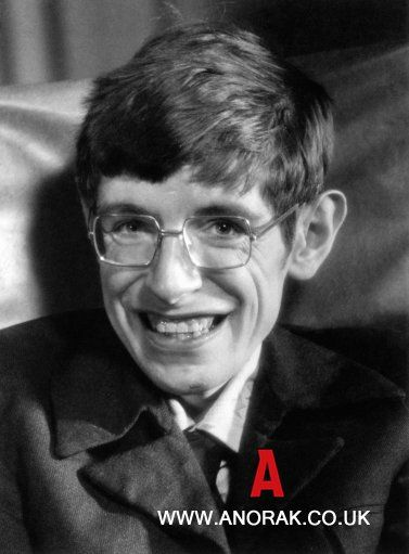 "A very young Hawking.  Don't misinterpret him nor mock him! He didn't say aliens would bring us ""drinks, gambling and shiny beads."" He meant that the alien encounter with us will not be good just as when Columbus first found the Natives, it didn't turn out so well for them."