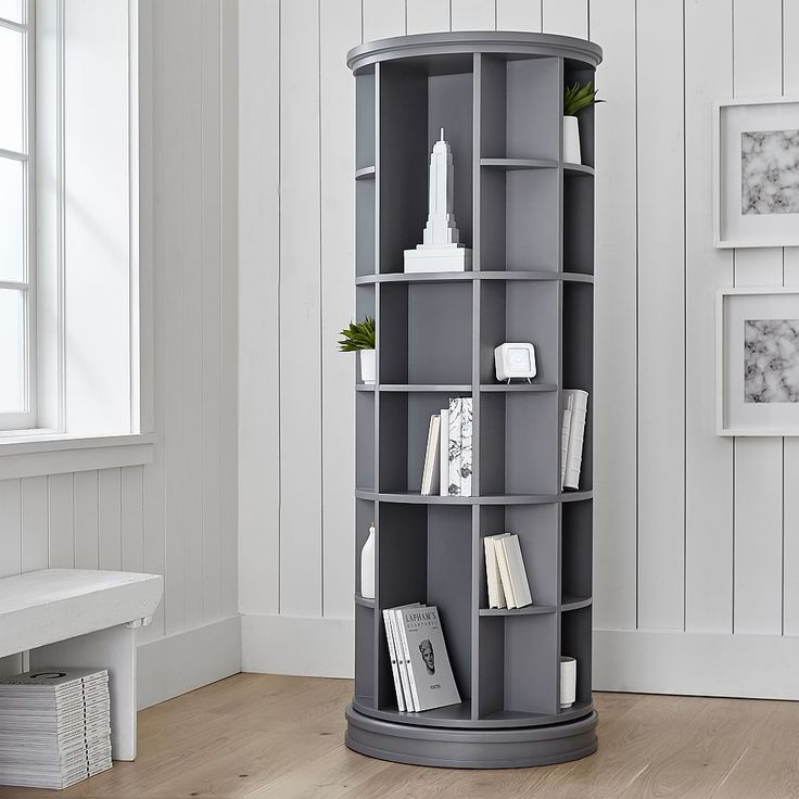 Revolving Bookcase Bedroom Storage For Small Rooms