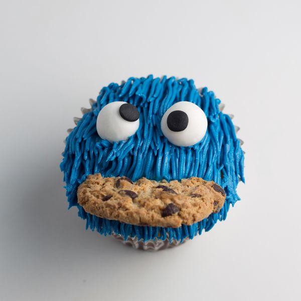 Recetas para niños: cupcakes Monstruo de las Galletas receta paso a paso