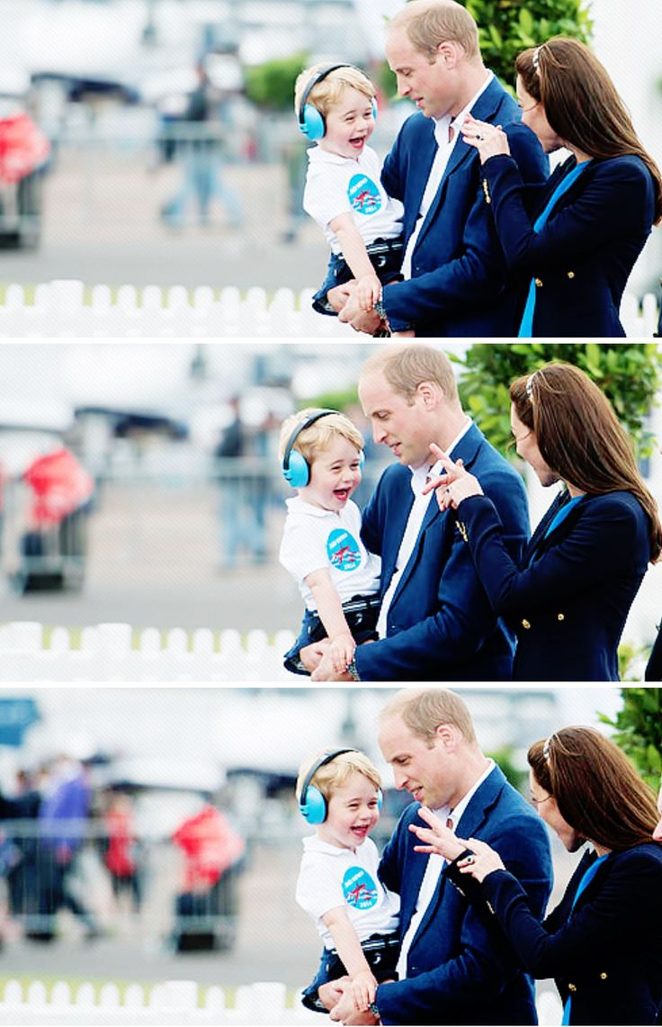 This is so adorable! Photos from the air show with Prince William, Kate and Prince George