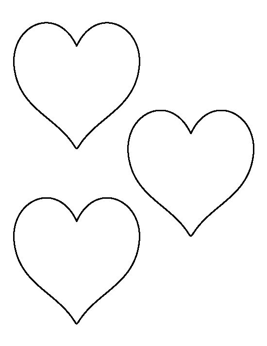 It is an image of Sly Heart Outlines Printable