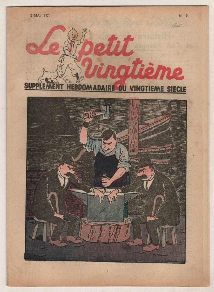 """Tintin L'ILE Noire LE Petit """"Vingtieme"""" N°19 1937"""